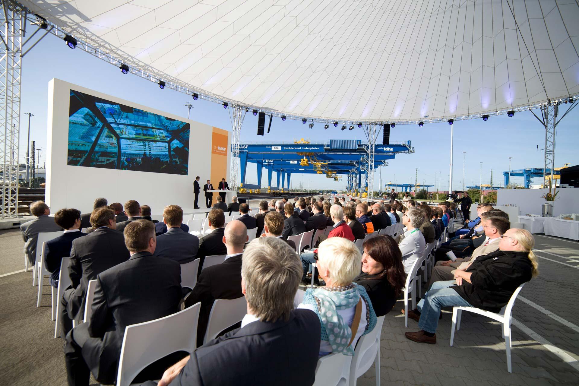 Agentur Ressmann Eröffnungsevent KVT3 Kombiverkehrsterminal