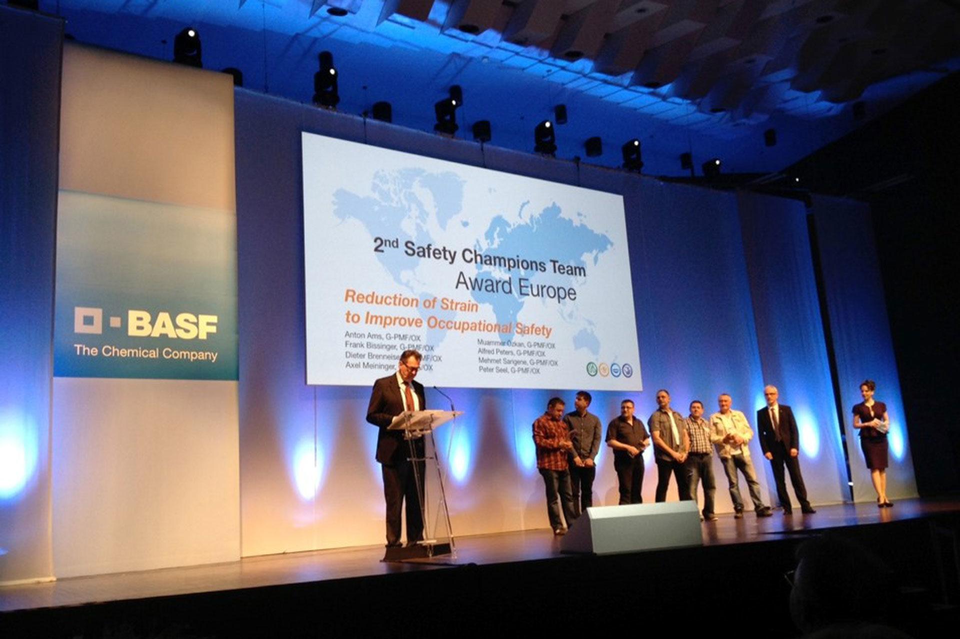 Agentur Ressmann Mannheim BASF 2nd Safety Champions Team Award Europe